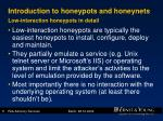 introduction to honeypots and honeynets low interaction honeypots in detail