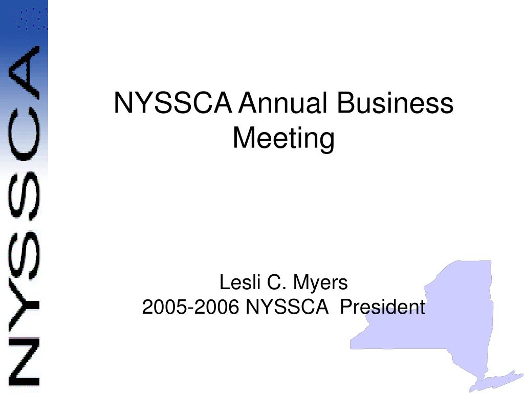 nyssca annual business meeting l.