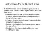 instruments for multi plant firms