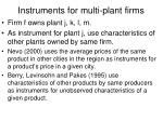instruments for multi plant firms33