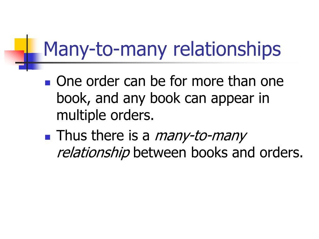 Many-to-many relationships