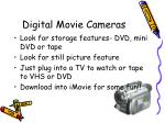 digital movie cameras