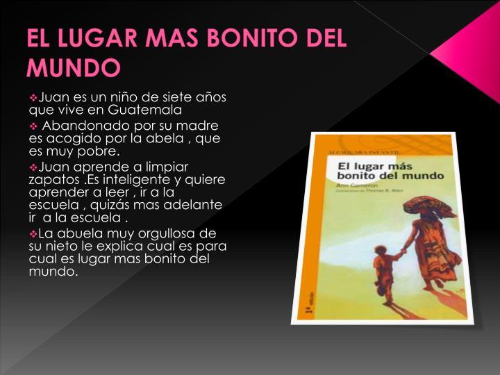 Ppt Lugar Mas Bonito Powerpoint Presentation Free Download Id 40610