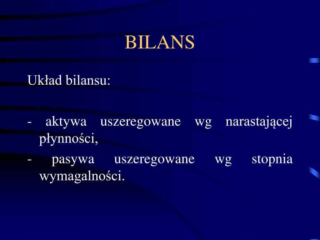 BILANS