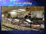form utility