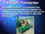 freight forwarder
