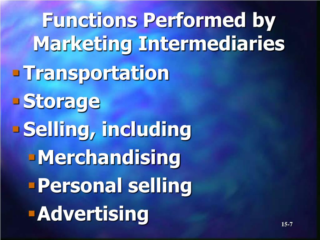 Functions Performed by Marketing Intermediaries