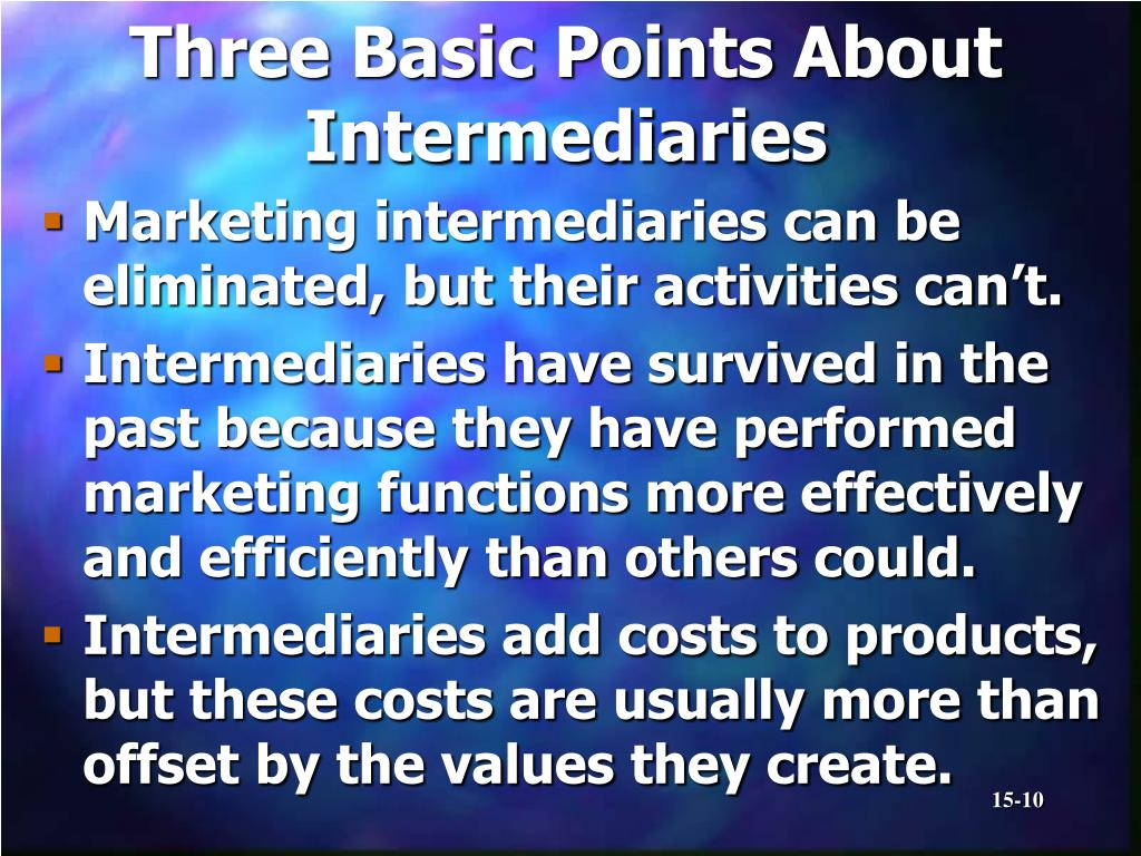 Three Basic Points About Intermediaries