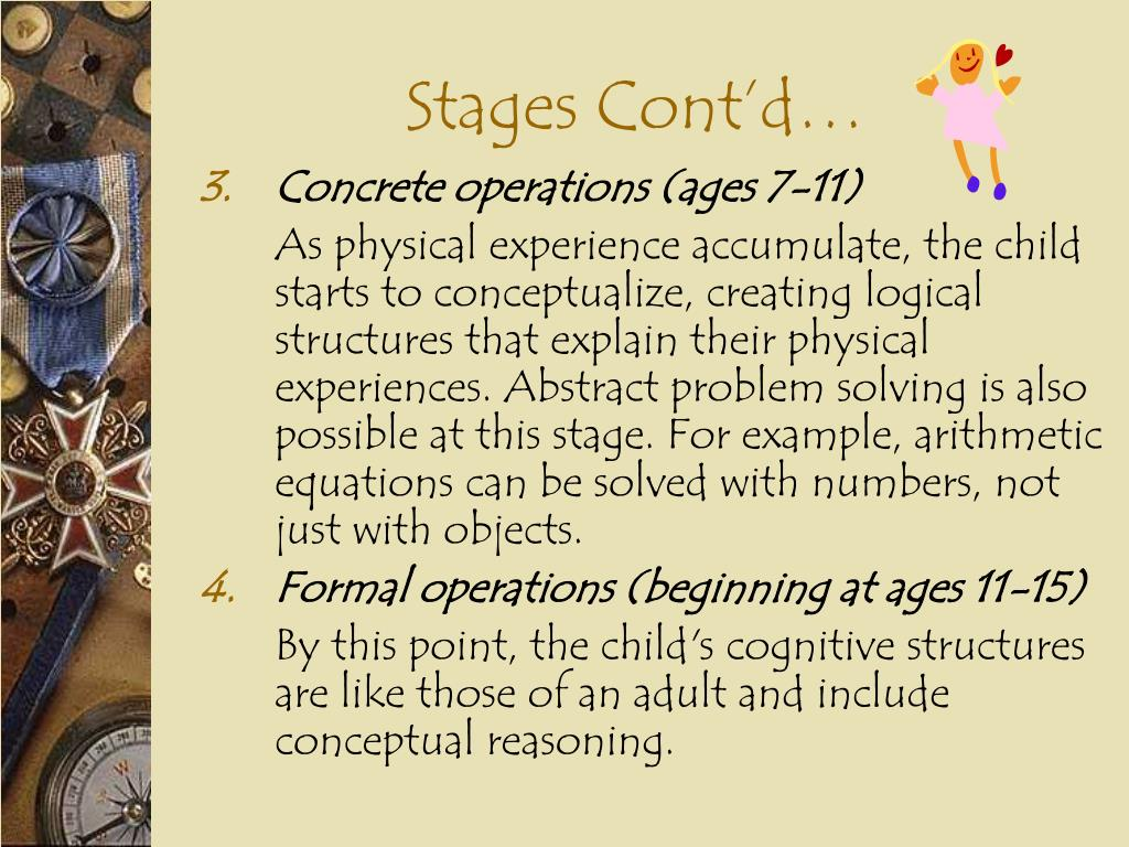 Stages Cont'd…