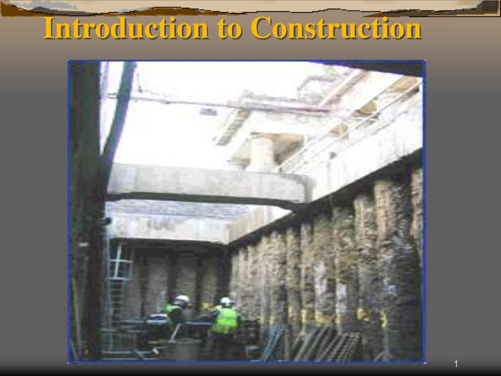 introduction to construction l.