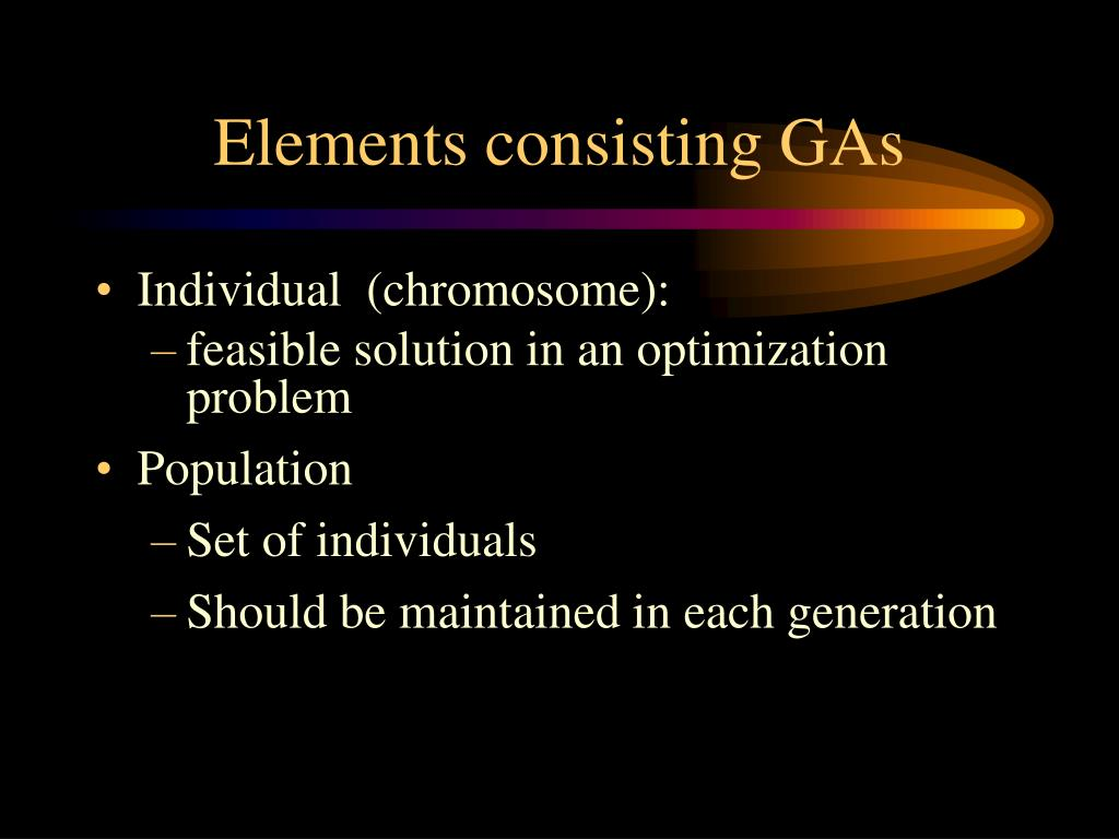 Elements consisting GAs