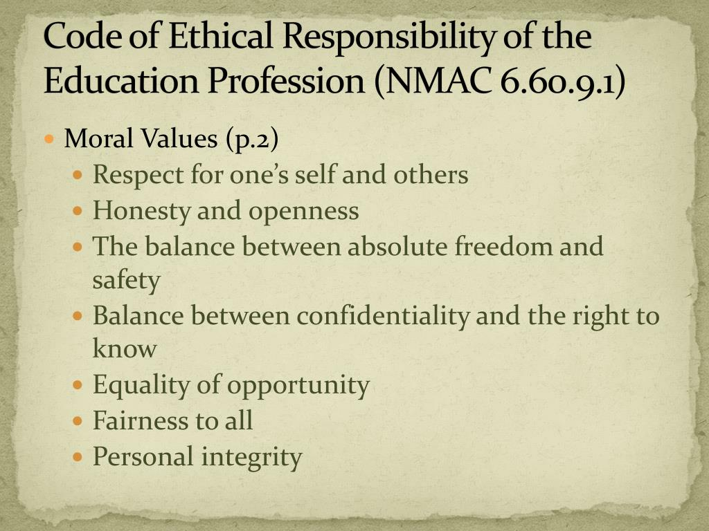 a moral obligation personal responsibility Professional responsibility as applied to nurses refers to the ethical and moral obligations nurses have the professional duty to accept personal responsibility.