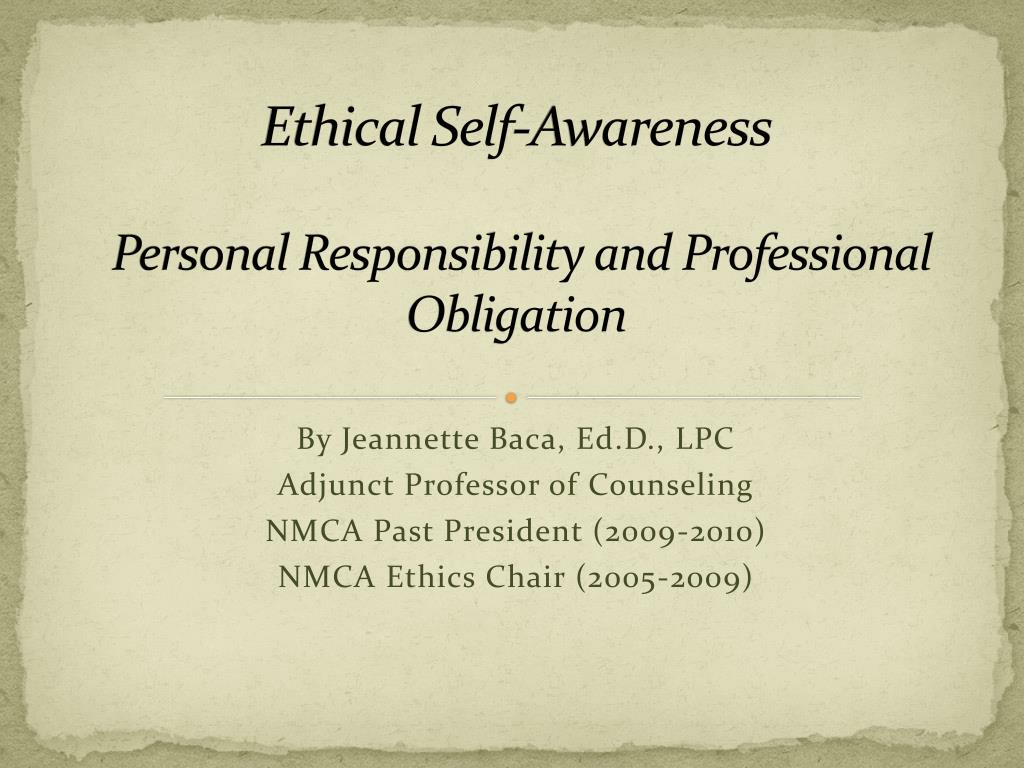 personal and professional ethic Nurses' professional and personal values the motives of nurses with different characteristics and help to promote their work according to professional ethical values.