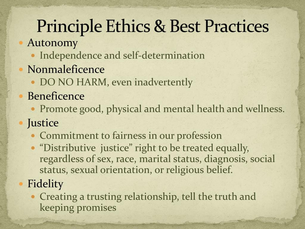 the best principle for an ethical life Subjective ethical relativism supports the view that the truth of moral principles is relative to individuals whatever you believe is right for you personally is completely up to you to determine subjective relativism allows you to be sovereign over the principles that dictate how you live your life.