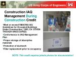 construction iaq management during construction credit