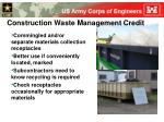 construction waste management credit