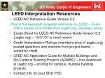 leed interpretation resources