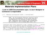 materials implementation plans