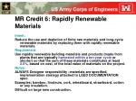 mr credit 6 rapidly renewable materials