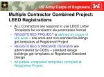 multiple contractor combined project leed registrations