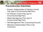 preconstruction submittals