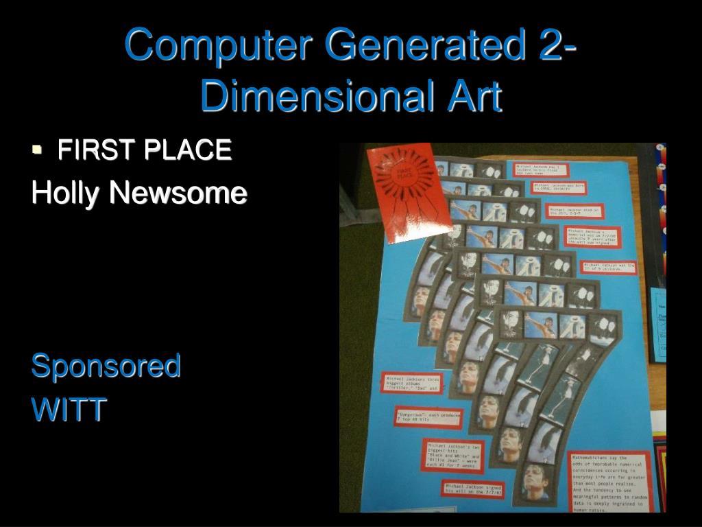 Computer Generated 2-Dimensional Art