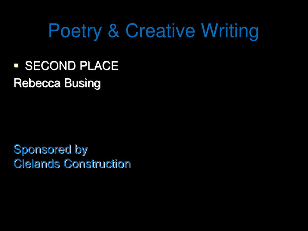 Poetry & Creative Writing
