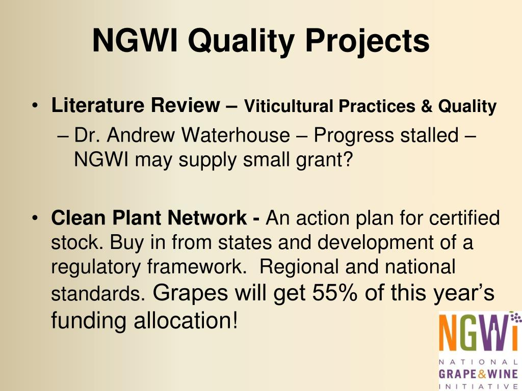 NGWI Quality Projects