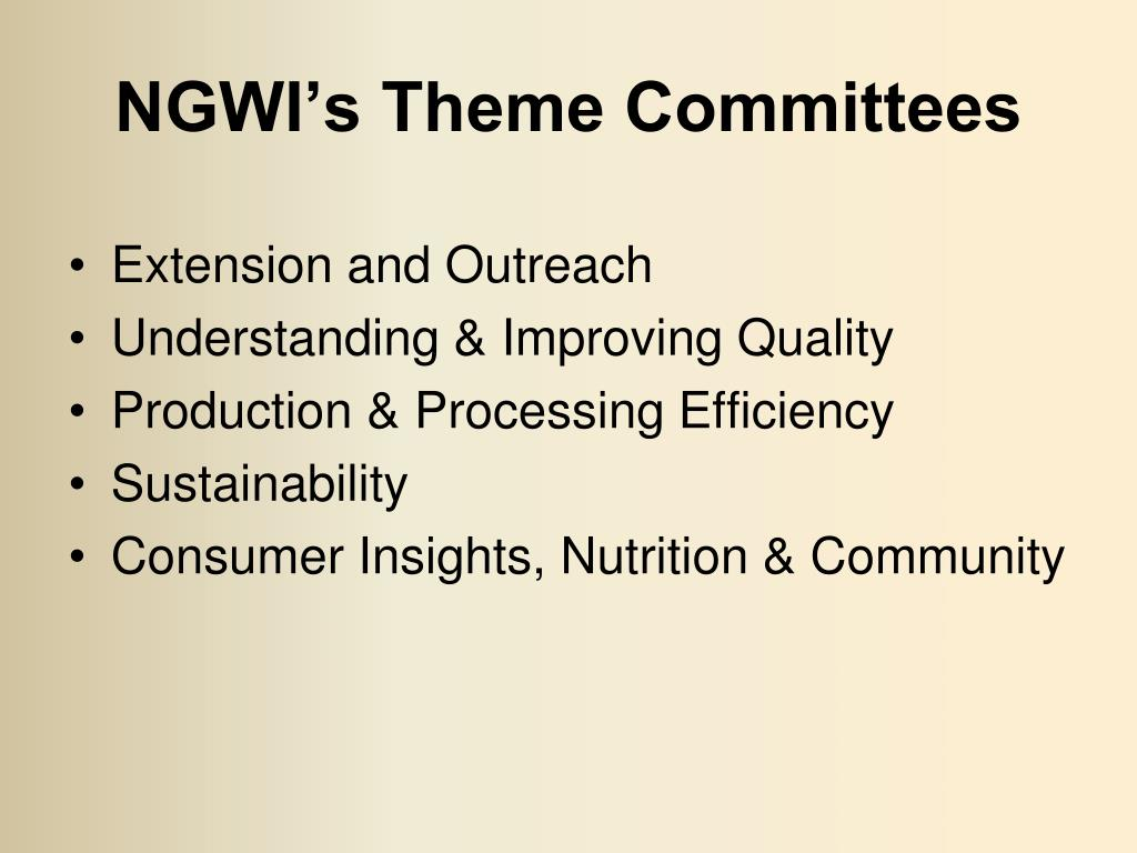 NGWI's Theme Committees