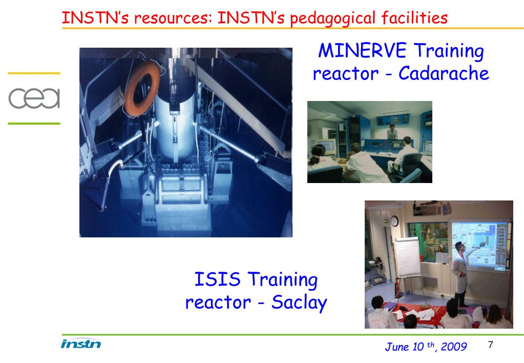 INSTN's resources: INSTN's pedagogical facilities
