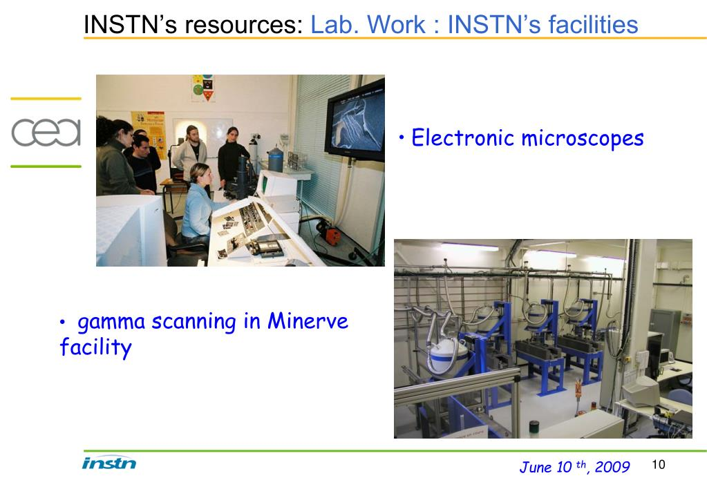 INSTN's resources: