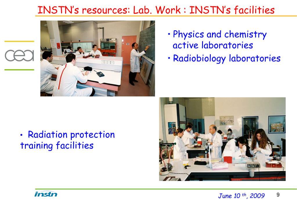 INSTN's resources: Lab. Work : INSTN's facilities