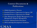 contract documents publications