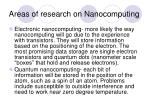areas of research on nanocomputing8