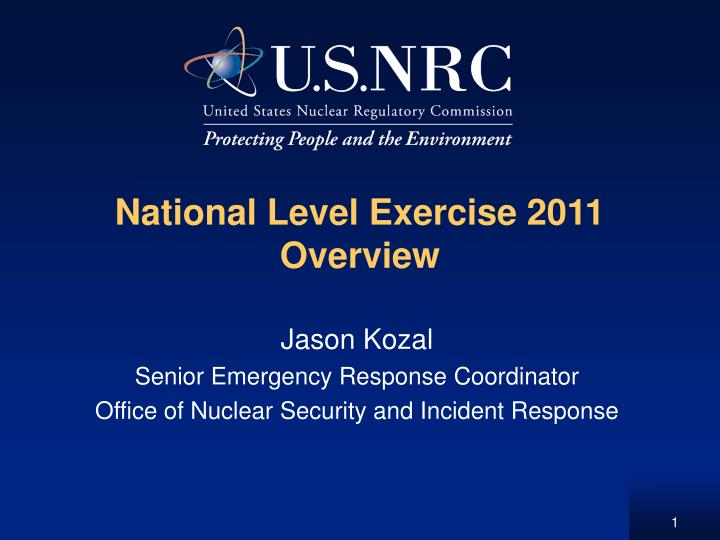 national level exercise 2011 overview n.