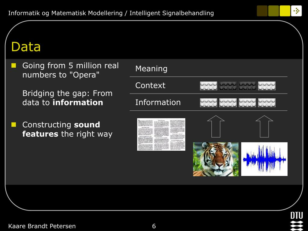 """Going from 5 million real numbers to """"Opera"""""""