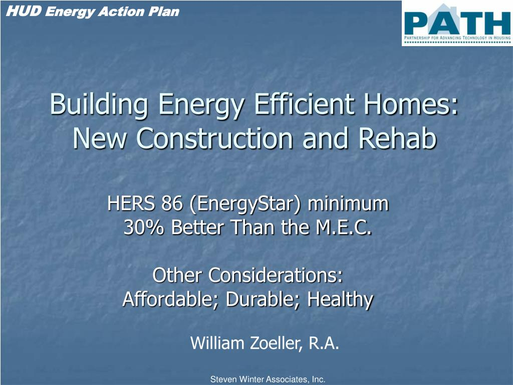 building energy efficient homes new construction and rehab l.