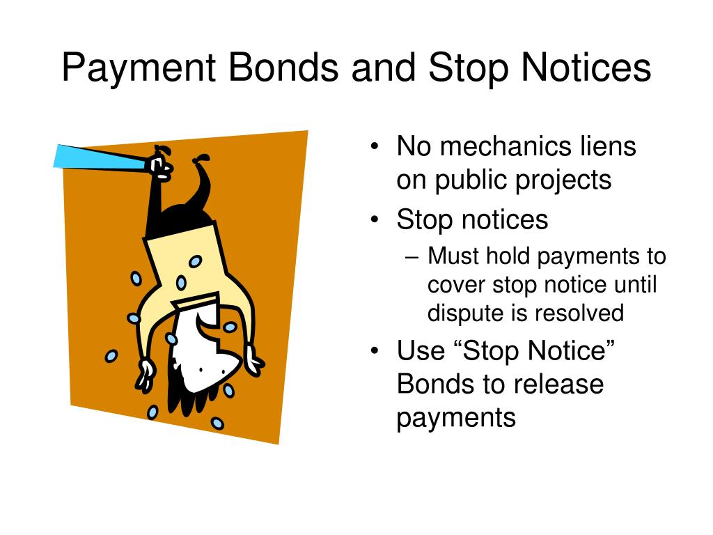 Payment Bonds and Stop Notices