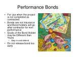 performance bonds