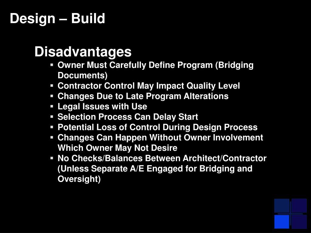 Design – Build