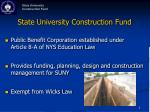 state university construction fund