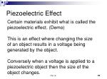 piezoelectric effect