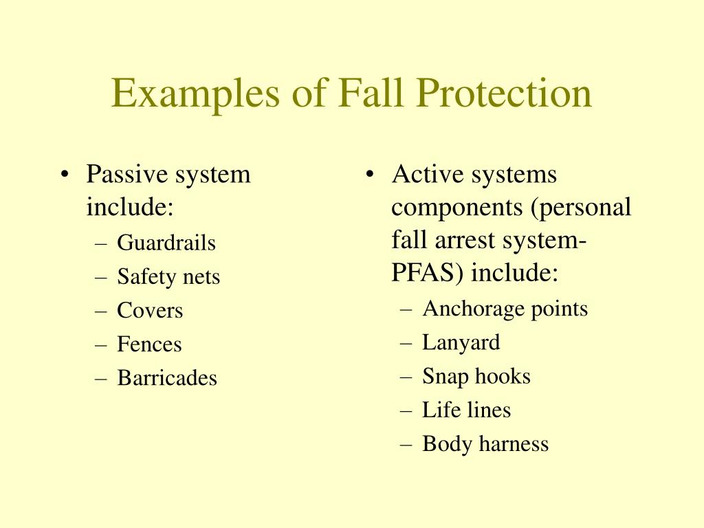 Passive system include: