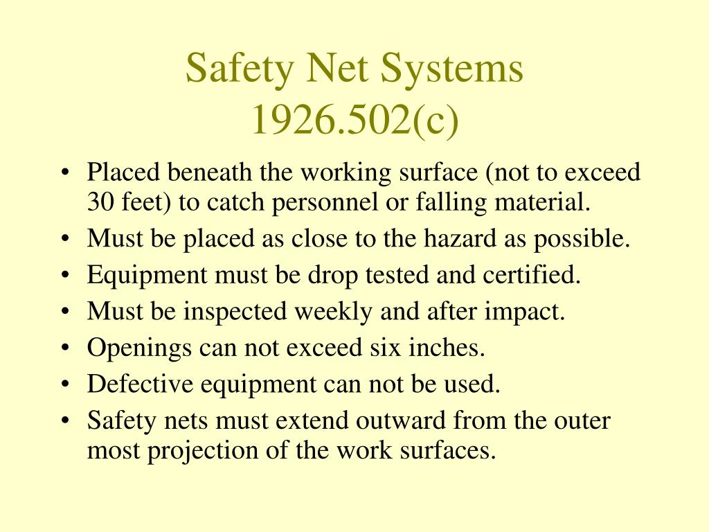 Safety Net Systems