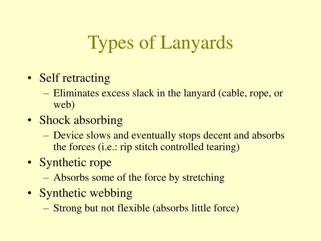 Types of Lanyards