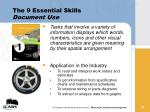 the 9 essential skills document use