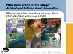 who does what in the shop autobody and collision repair occupations
