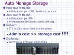 auto manage storage