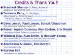credits thank you