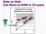 data on disk can move to ram in 10 years